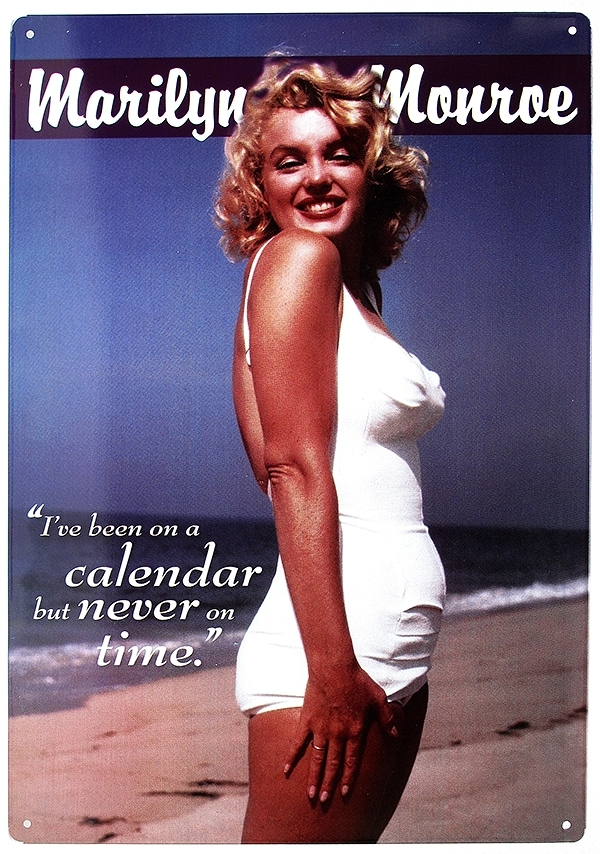 Tin Sign Marilyn Monroe Calendar