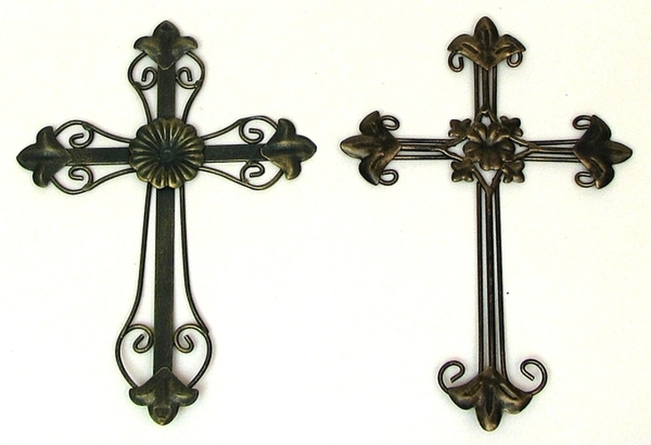 Ornate metal wall art spiritual home decor wall cross ebay Home decor wall crosses