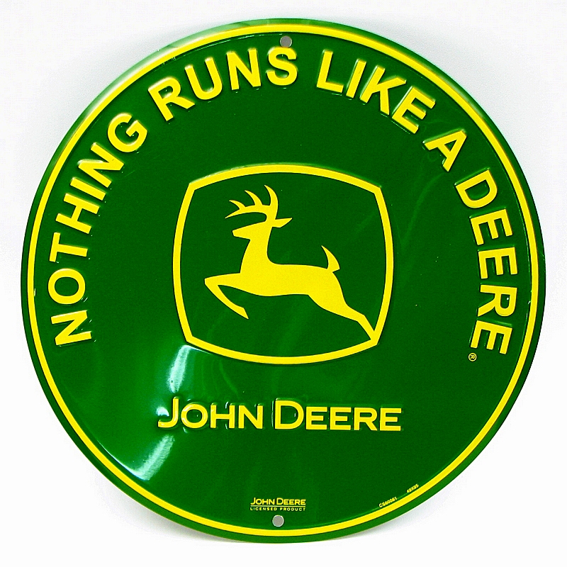 Tin Sign John Deere Nothing Runs Like A Deere