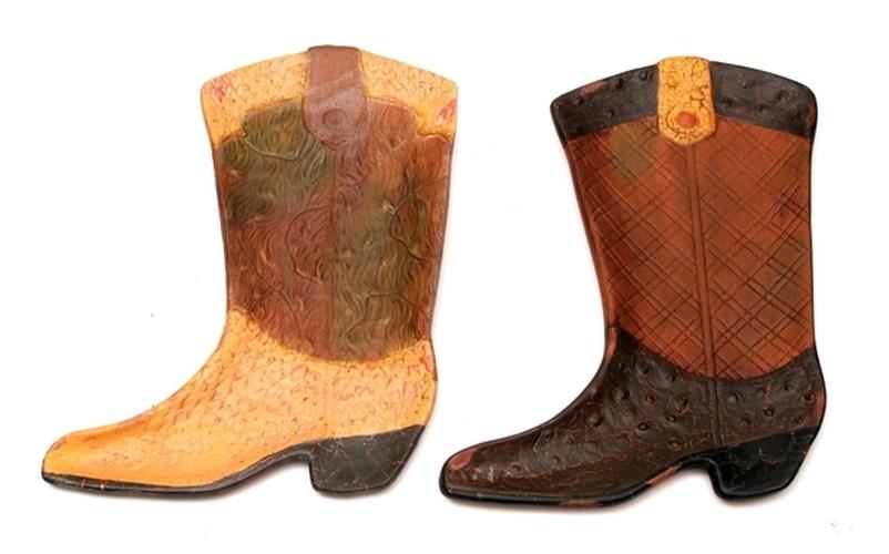0e35228d06d Terracotta Cowboy Boot Wall Plaque set2