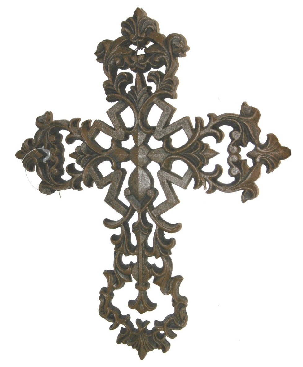 Cast Iron Fleur De Lis Metal Wall Cross Rustic Home Decor EBay